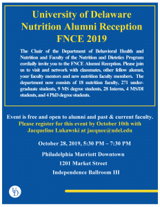 FNCE Alumni Reception flyer