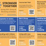 Spring 2021 Group & Workshop Schedule