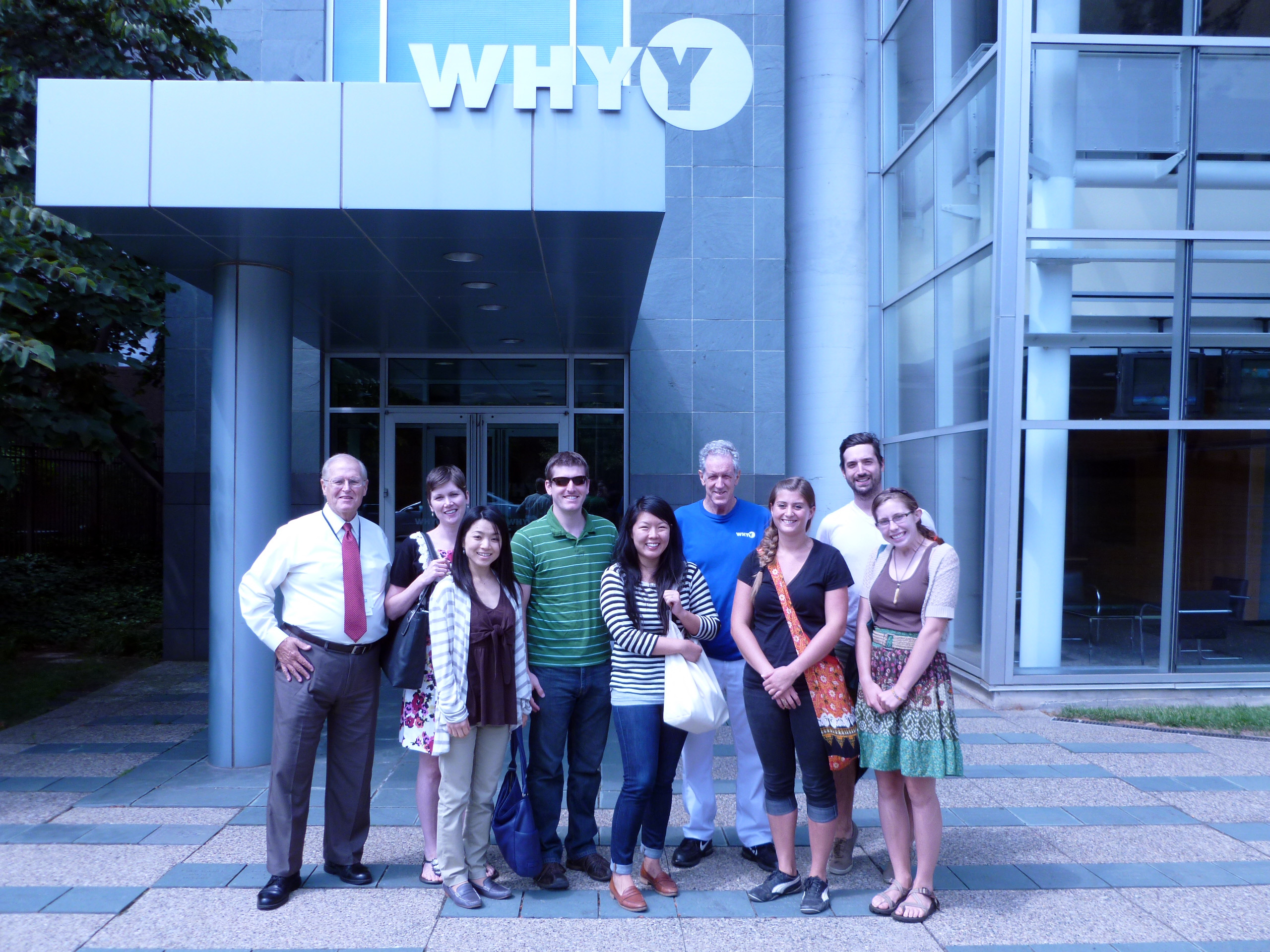 Hagley Fellows visiting WHYY