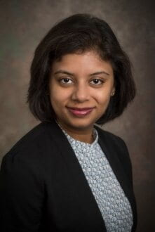 Pinki Mondal is an assistant professor in the Department of Geography and Spatial Sciences