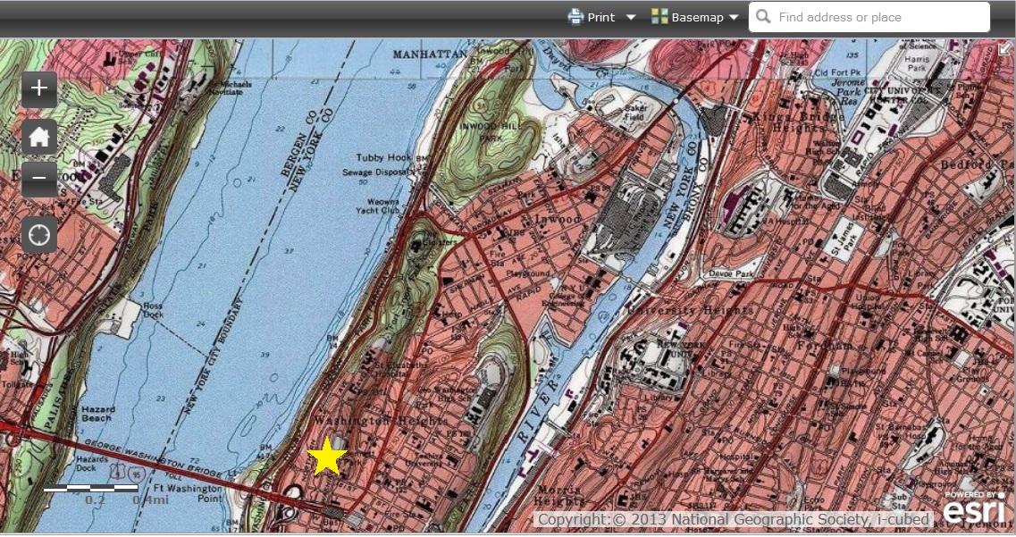 bronx topo map