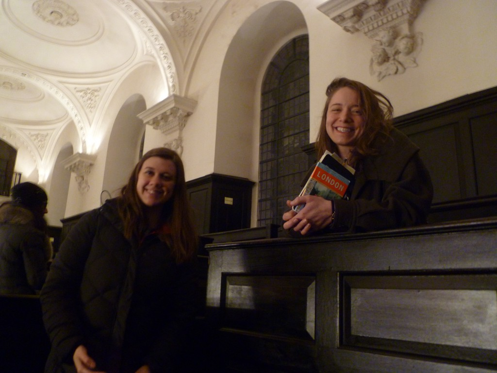 Hannah and Amy emanating a post-concert glow at St. Martin-in-the-Fields