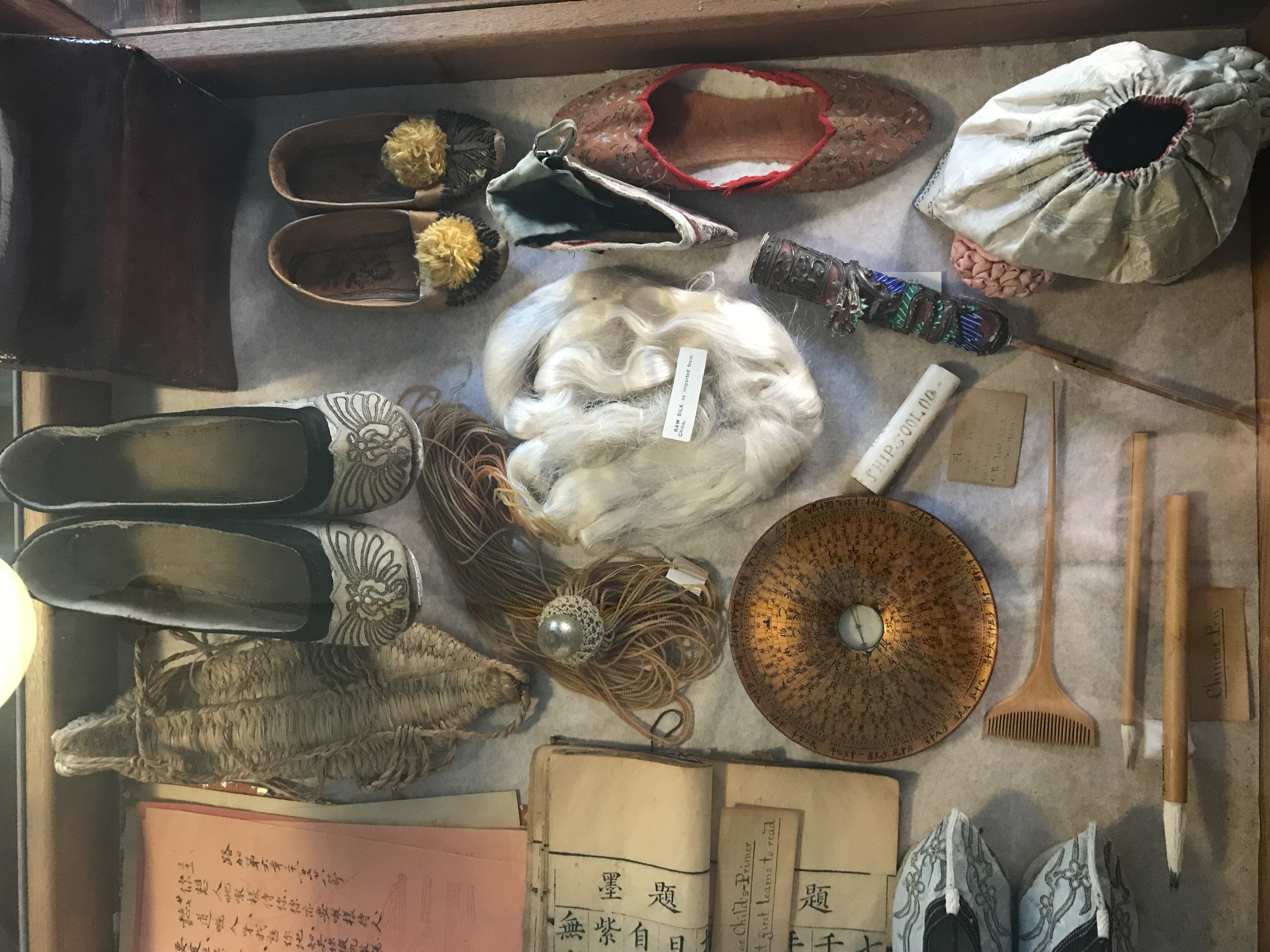 Cabinets of Curiosities – features all manner of naturalistic items such as shells, rocks, and coral. Also includes Chinese artifacts and international newspapers.