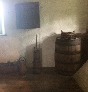 Standing unassumingly near a window in the back room of the Herr House is the 18th century wooden butter churn owned by the Herr family.