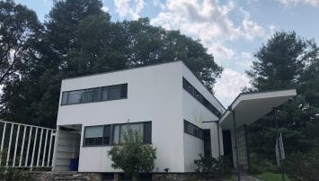 A photograph of the exterior of the Gropius House