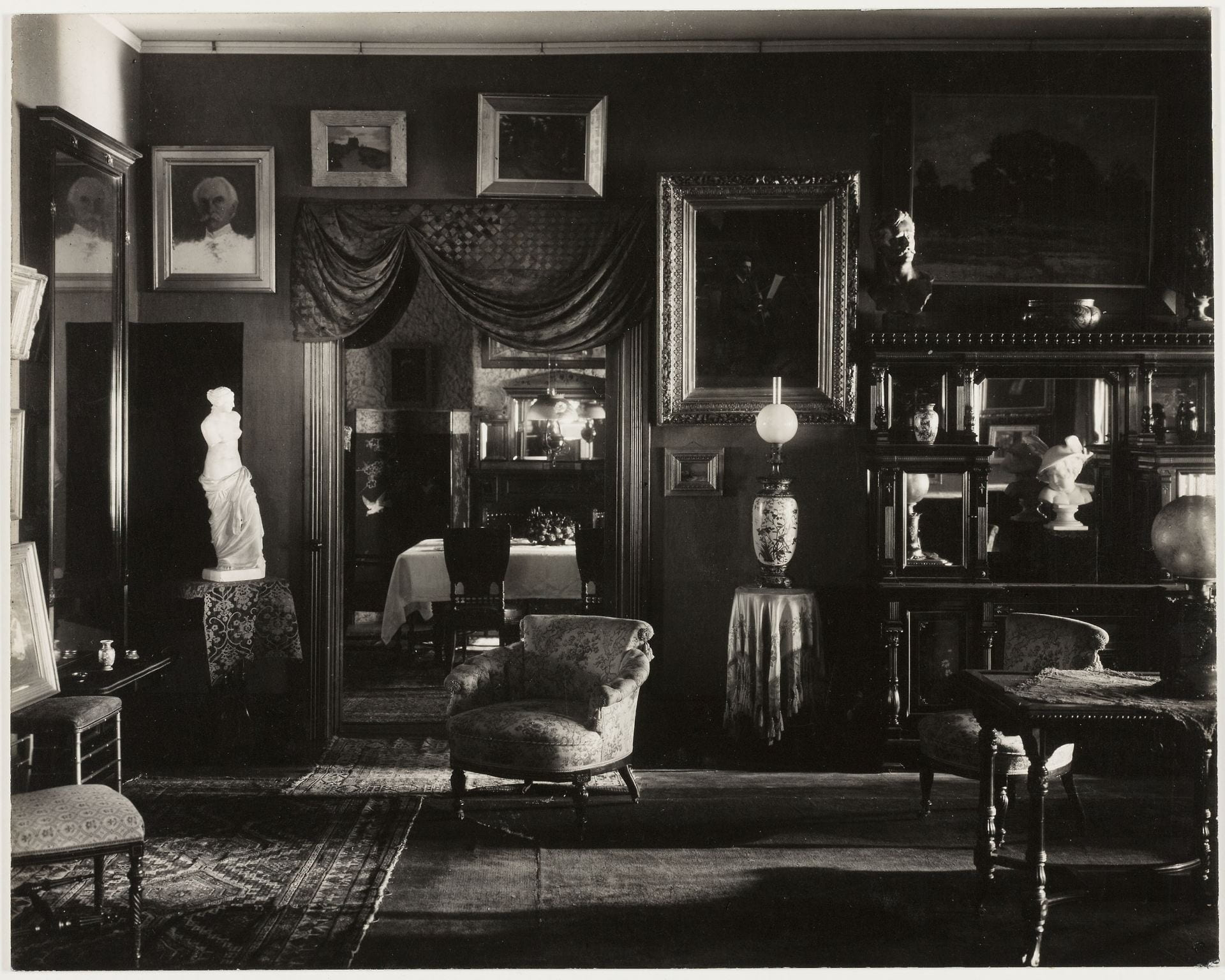Fig. 4. Photograph of lushly decorated Victorian parlor.