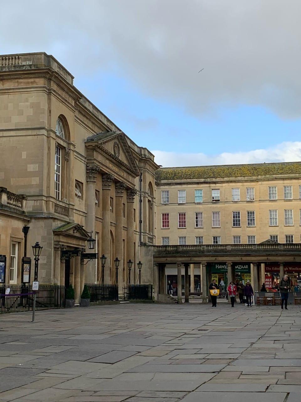 a large georgian building made of Bath stone