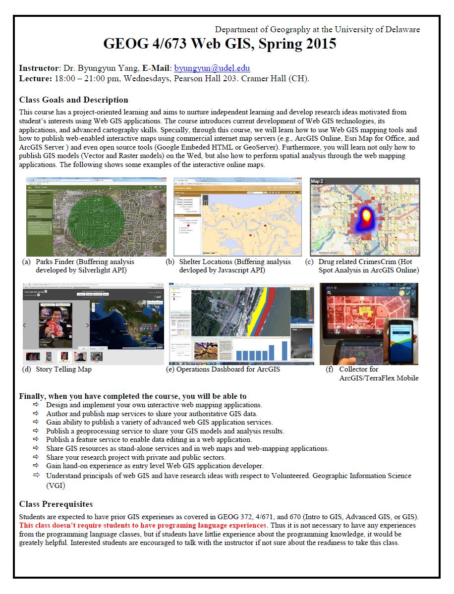 Web GIS Flyer