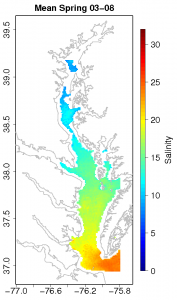 Spring Salinity Climatology for the Chesapeake