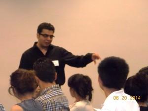 Ashu leading a discussion