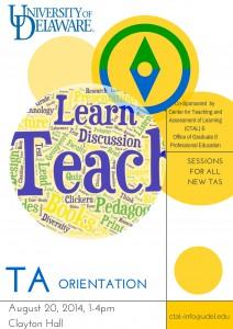 TA Orientation Poster