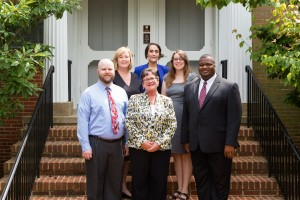 Group photo of staff members Kathy Pusecker, Rose Muravchick, Kevin Guidry, Sophie le Blanc, Marcia Hartline, and Emmanuel Balogun from the Center for Educational Effectiveness.