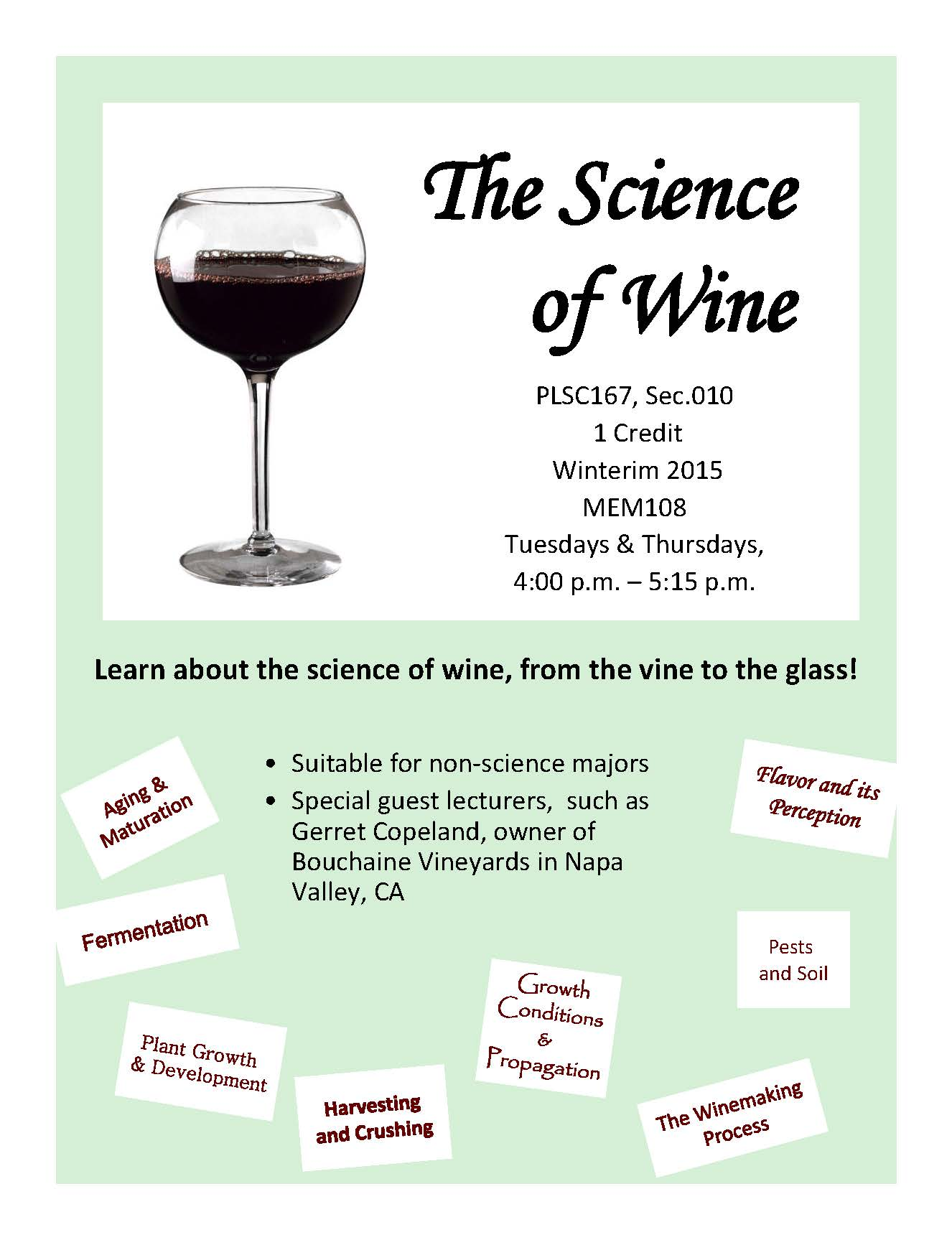 Science of Wine Flyer