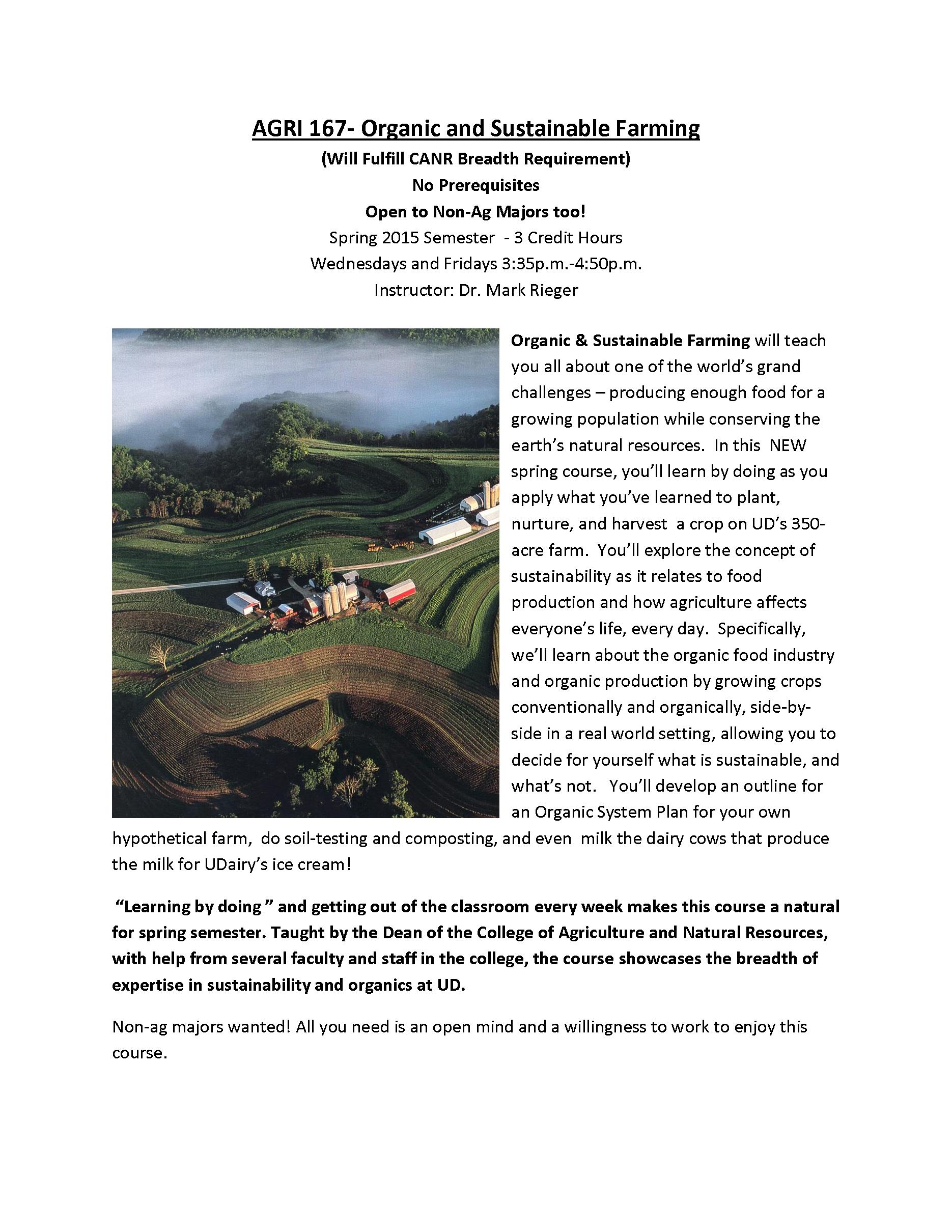 Organic Spring Course 2015