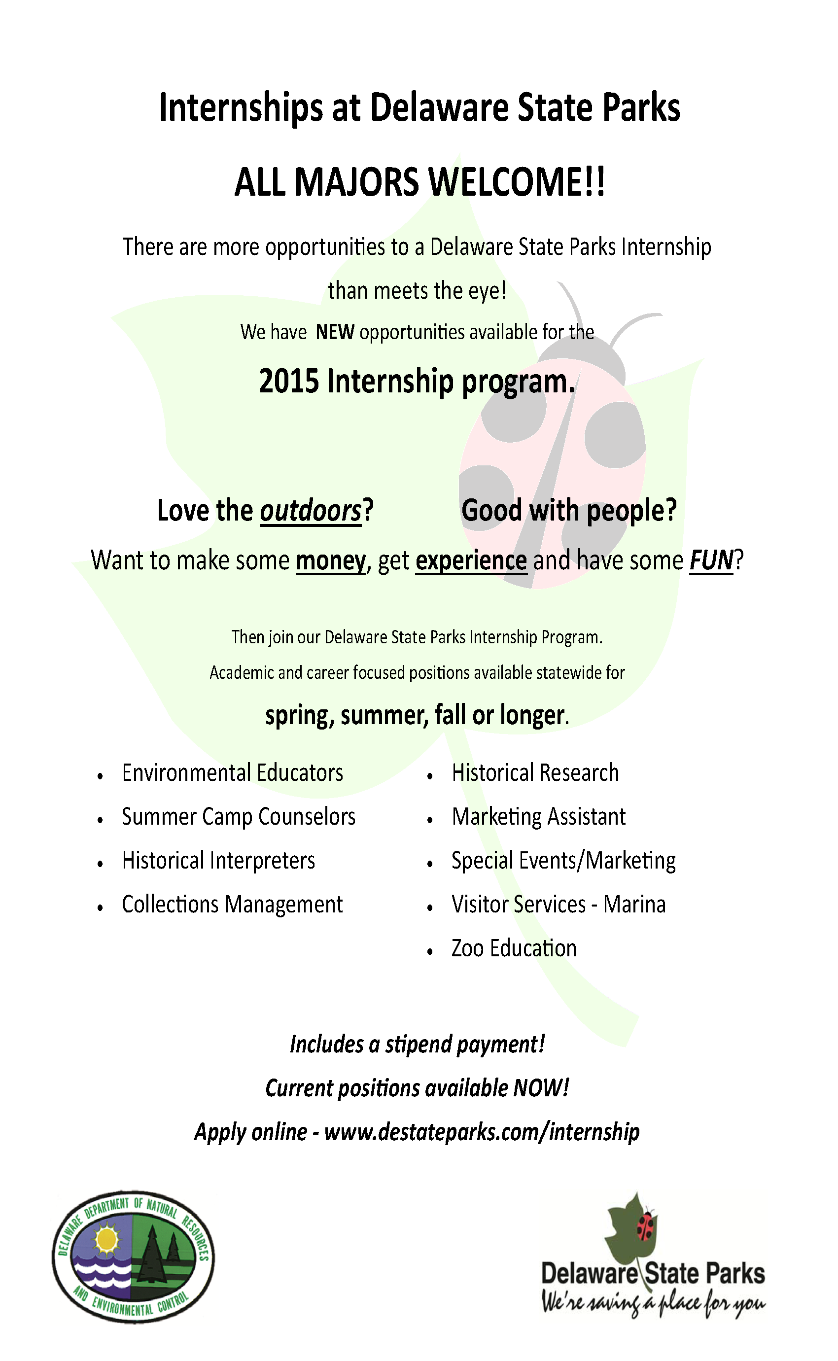 DSP internship flyer 2015