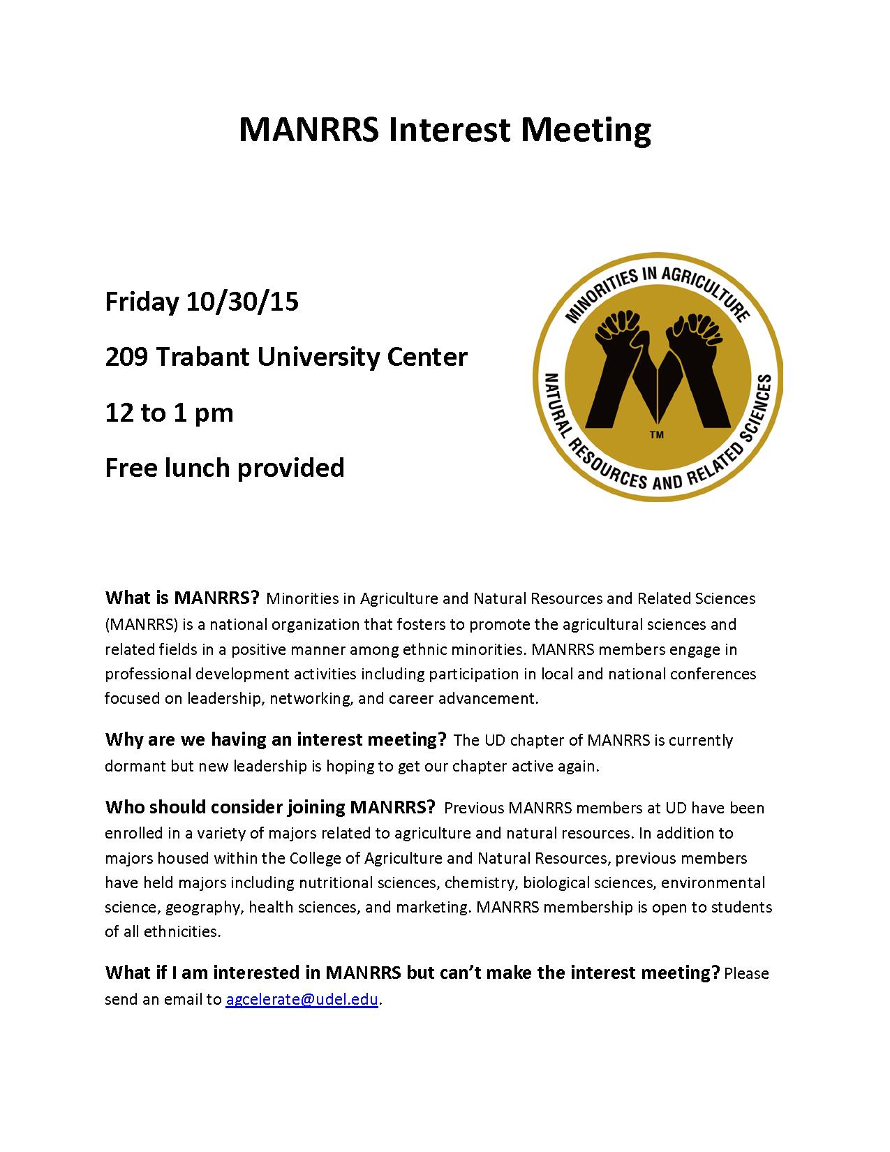 MANRRS Interest Meeting