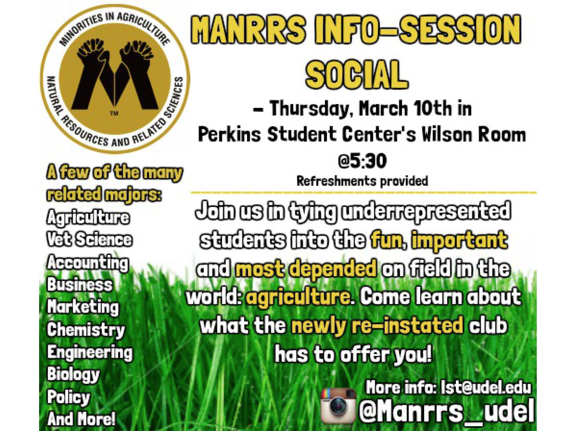 MANRRS Info Session March 10