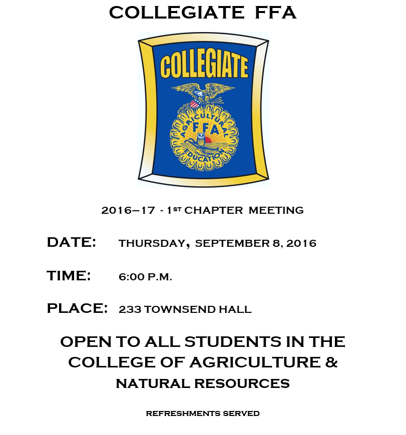 Collegiate FFA Meeting