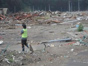 Debris-Man Walking