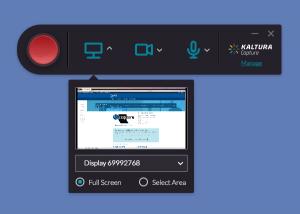 Screenshot of Kaltura Personal Capture
