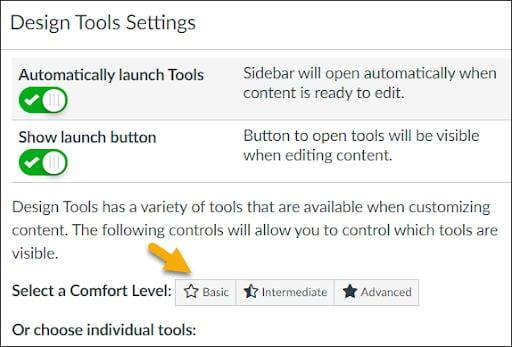 screenshot showing DesignPUS Design Tools settings