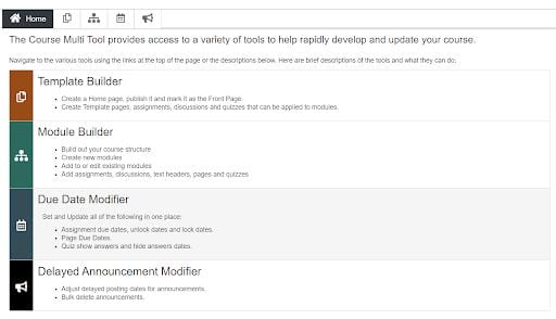 screenshot showing the DesignPLUS Multi Tool builder components