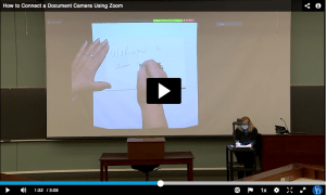 Using the Classroom Document Camera with Zoom   Information Technologies    Academic Technology Services