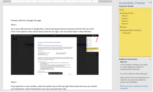 Accessibility Tip: Checking Word Documents | IT-ATS | Canvas@UD