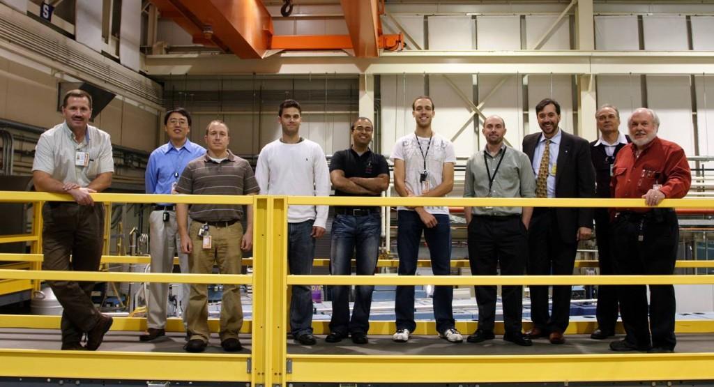 Pictured (from left to right): Don Pierce (NIST), Yun Liu (UDEL), Steve Swern (UDEL), Ilan Breit (UDEL), Chirag Parikh (UDEL), Brett George (UDEL), Robert Shirley (NIST), Norman Wagner (UDEL), Jeffrey Trossen (UDEL), Jim LaRock (UDEL)