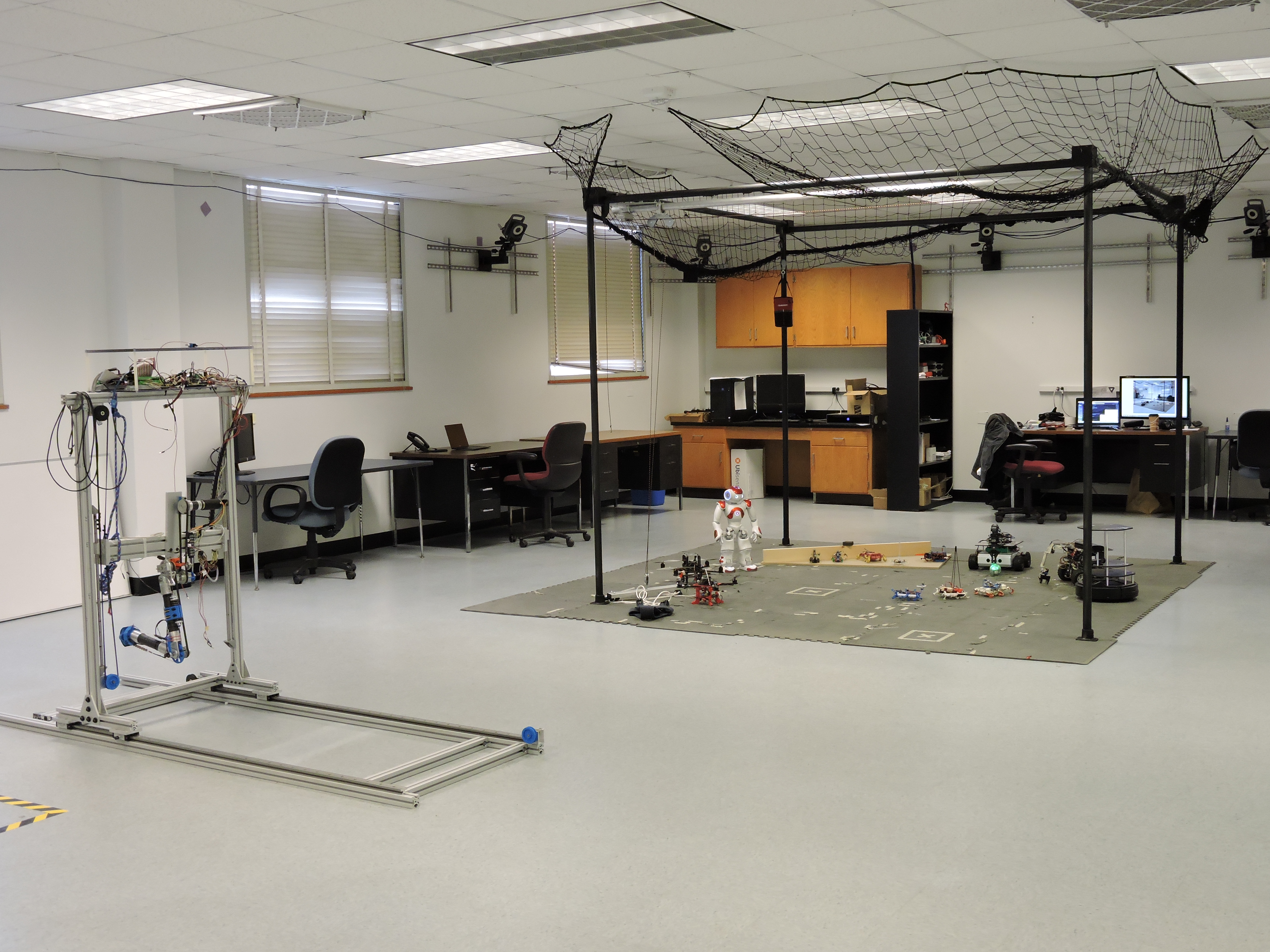 Over 900 square feet of lab space is devoted to robotics and control research