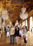 Nathan, Mary, Elise & I in the Hall of Mirrors