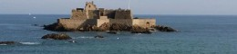 A fortress built on a small island off the coast of the island city of Saint Malo. The island was enchanting and the most fascinating part was that with a 45 foot tidal difference you could walk to that fortress a few hours later.