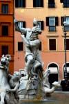 Fountain of Neptune in Piazza Navona
