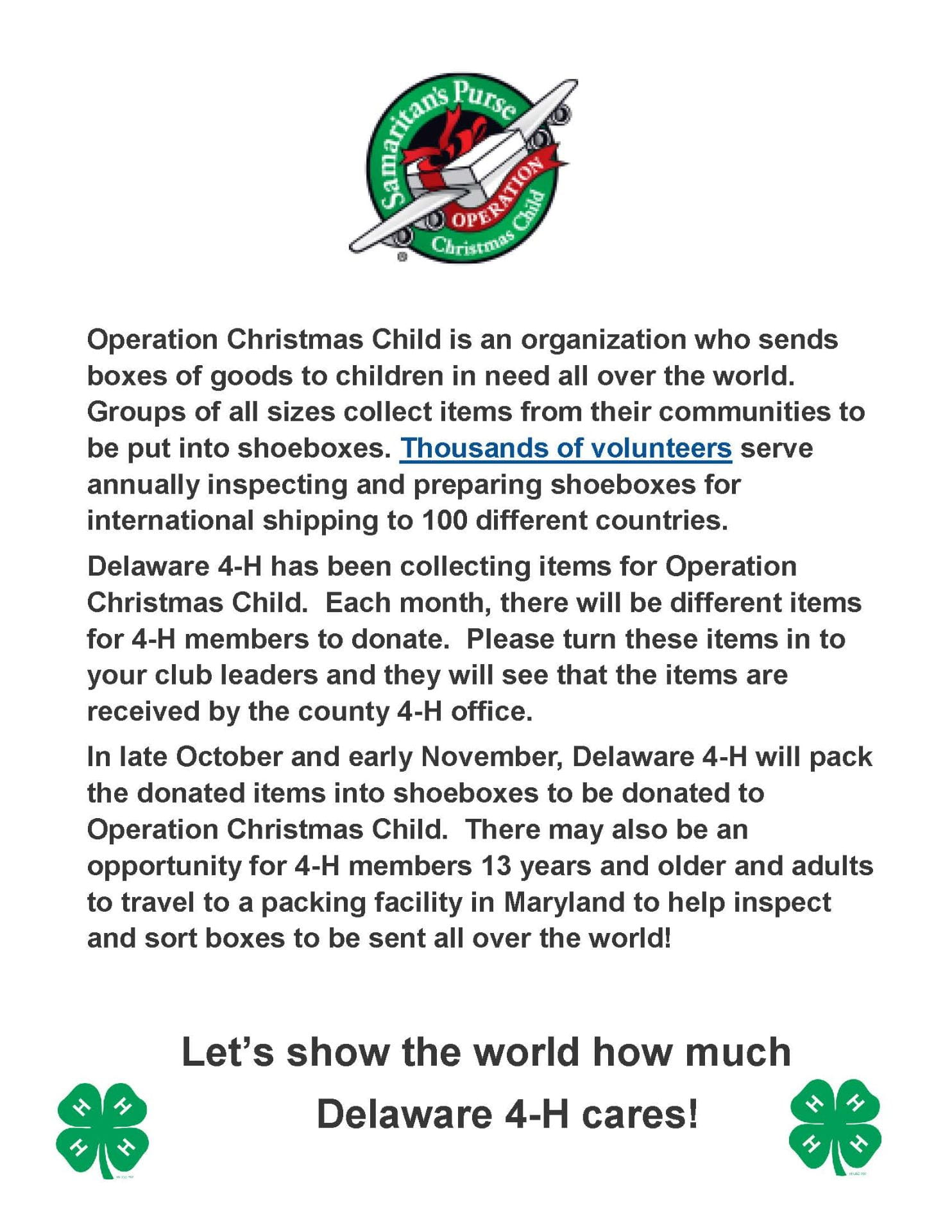 Christmas Donations 2020 Operation Christmas Child Donations: August 2020 | The Sussex