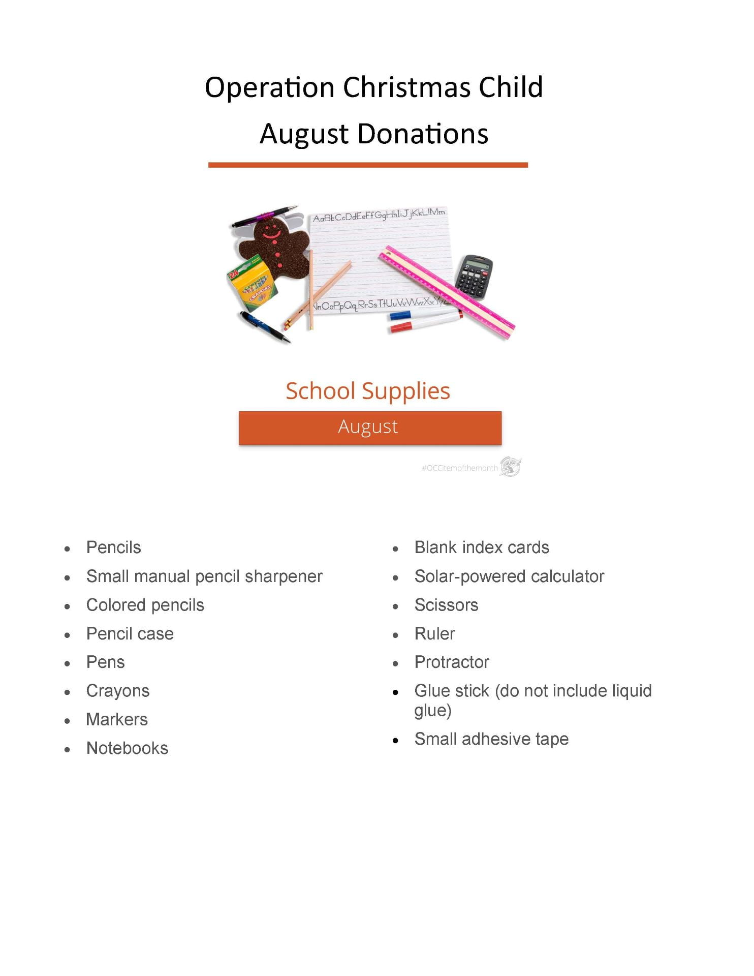 Operation Christmas Child Donations August 2020 The Sussex Connection