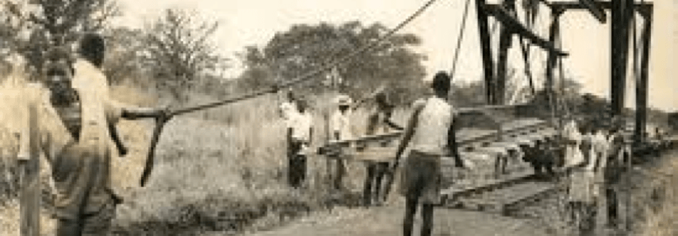 32,000+ Asians brought from British India colony as indentured laborers to build the Kenya-Uganda railway. British rule required Asian labor on the rail line in order for them to achieve civilization in East Africa Colonies such as Nairobi.