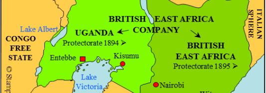 Map of British Kenya 1920-1963