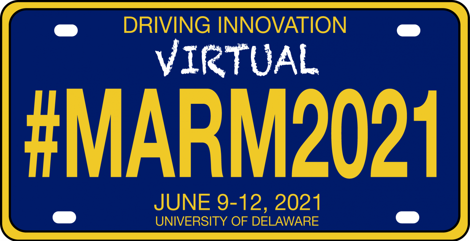 #MARM2021 June 9-12, 2021 on a Delaware style license plate