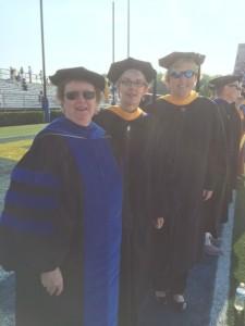 Dr. Mary Ann McLane, Karen Brinker, Leslie Allshouse at UD Commencement 2016