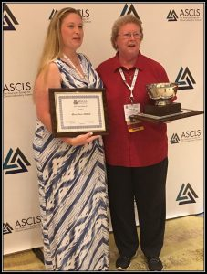 Mclane_Pierc-Matlock win awards at ASCLS