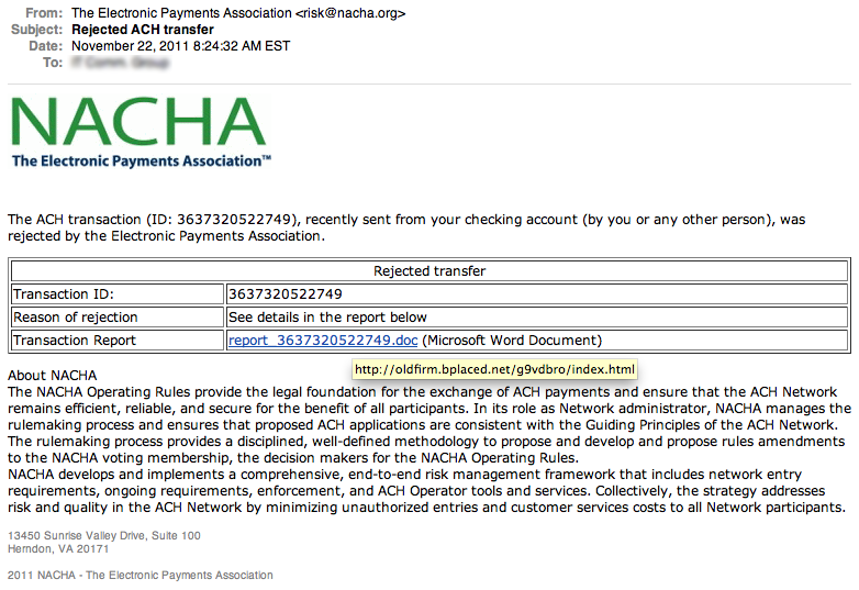 More Fake Ach Phish Secure Ud Threat Alerts
