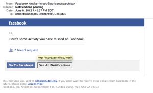 Another Facebook Phishing Scam