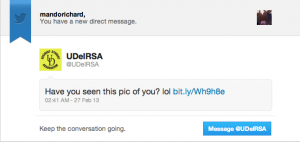 Email claiming there's a picture of me in twitter