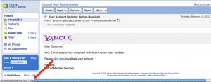 Yahoo! phishing scam.