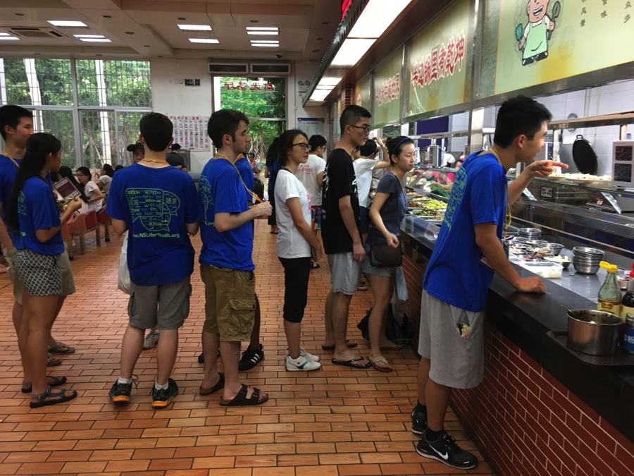 Easting at Xiamen University student cafeteria