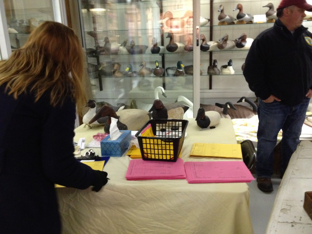 Cataloguing decoys at the Upper Bay Museum