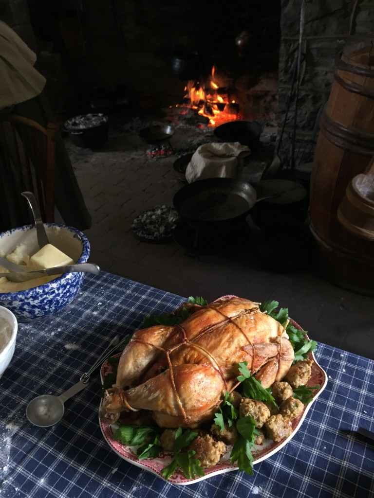 Chicken garnished and ready to be eaten at Landis Valley Museum, February 2015