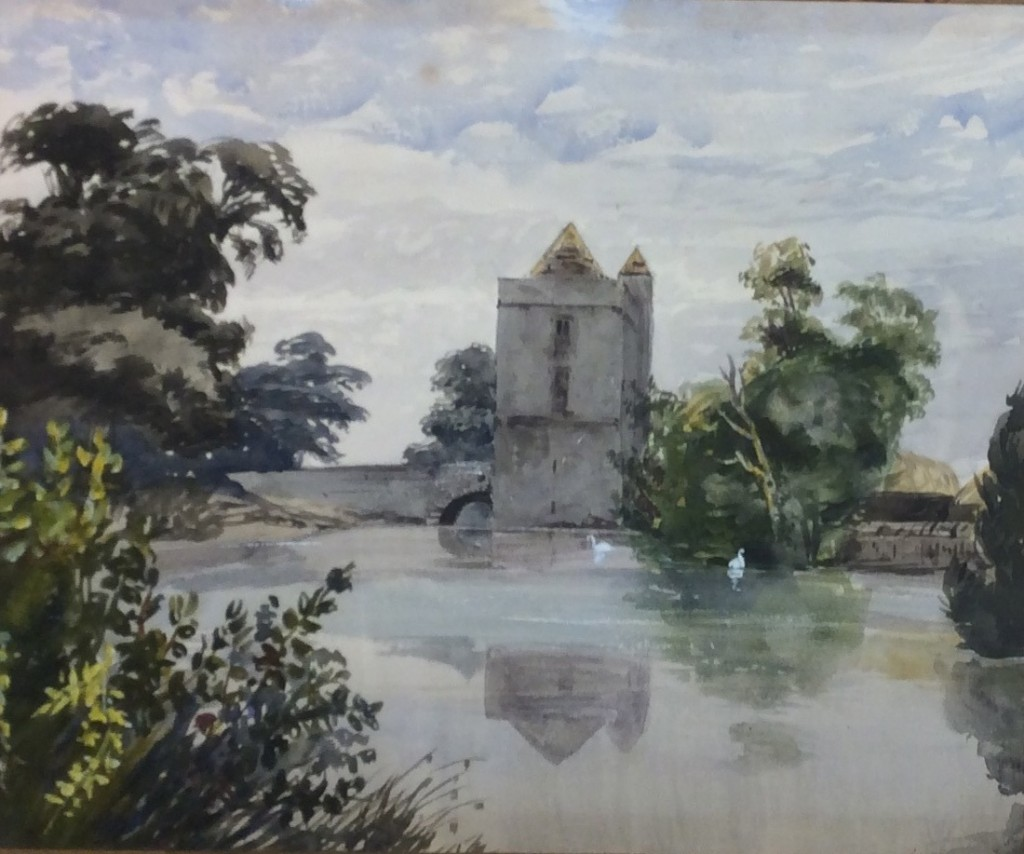 Barbara Leigh Smith Bodichon (1827-1891), The Gatehouse at Michelhaml Priory, ca. 1850. Watercolor on paper, 25 x 30 cm.