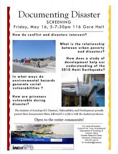 Disaster Documentary Screening 2014