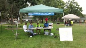 Mello picture of survey tent
